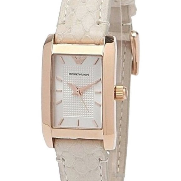EMPORIO ARMANI LADIES WATCH 1655 LEATHER BAND